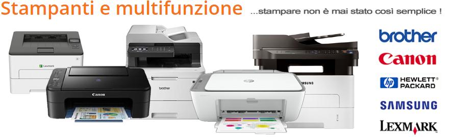 Stampanti e Multifunzione ... stampare non è mai stato così semplice !